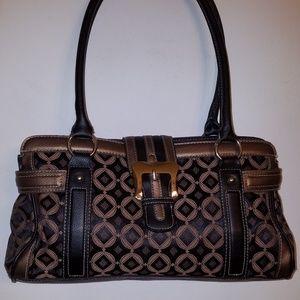 Worthington brown copper leather handbag